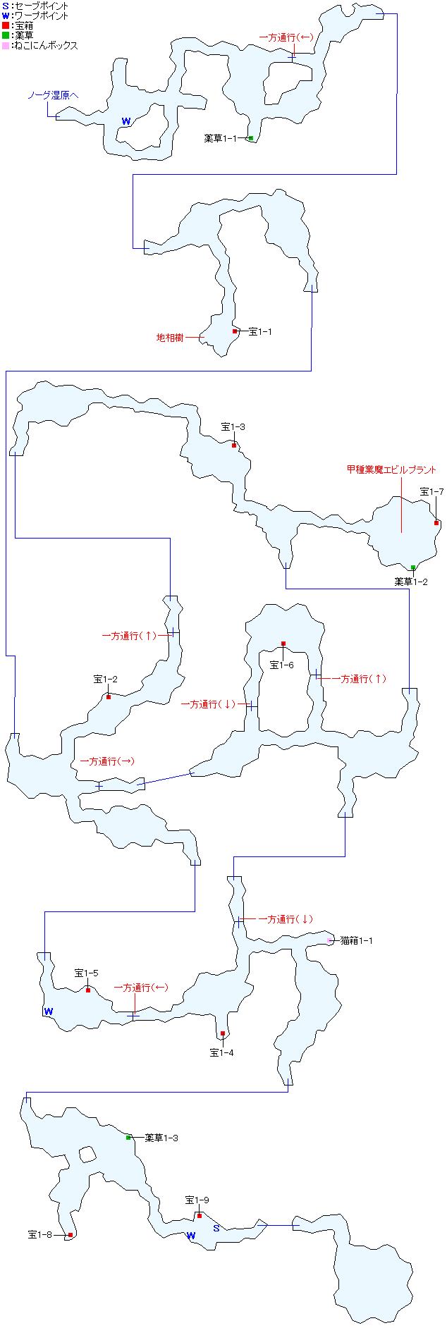 ワァーグ樹林マップ