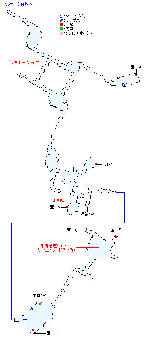 東ラバン洞穴マップ