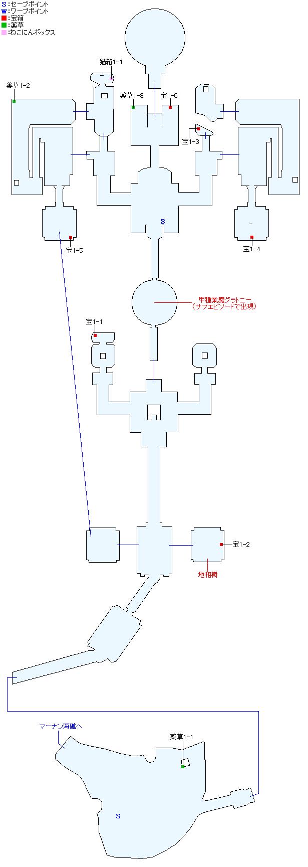 マップ画像・聖殿パラミデス