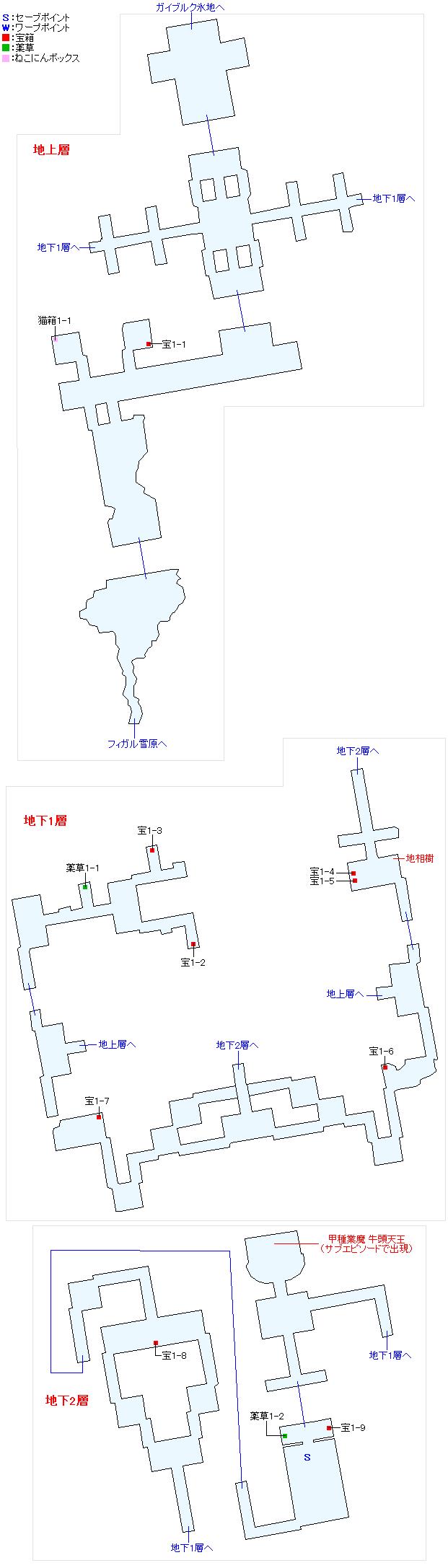 フォルディス遺跡マップ