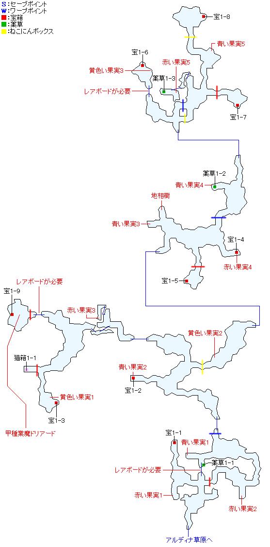 マップ画像・ダヴァール森林