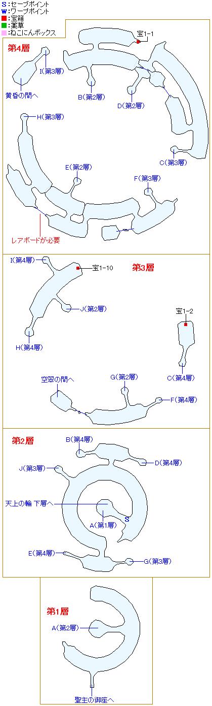 マップ画像・八頭竜カノヌシ(地上の輪)