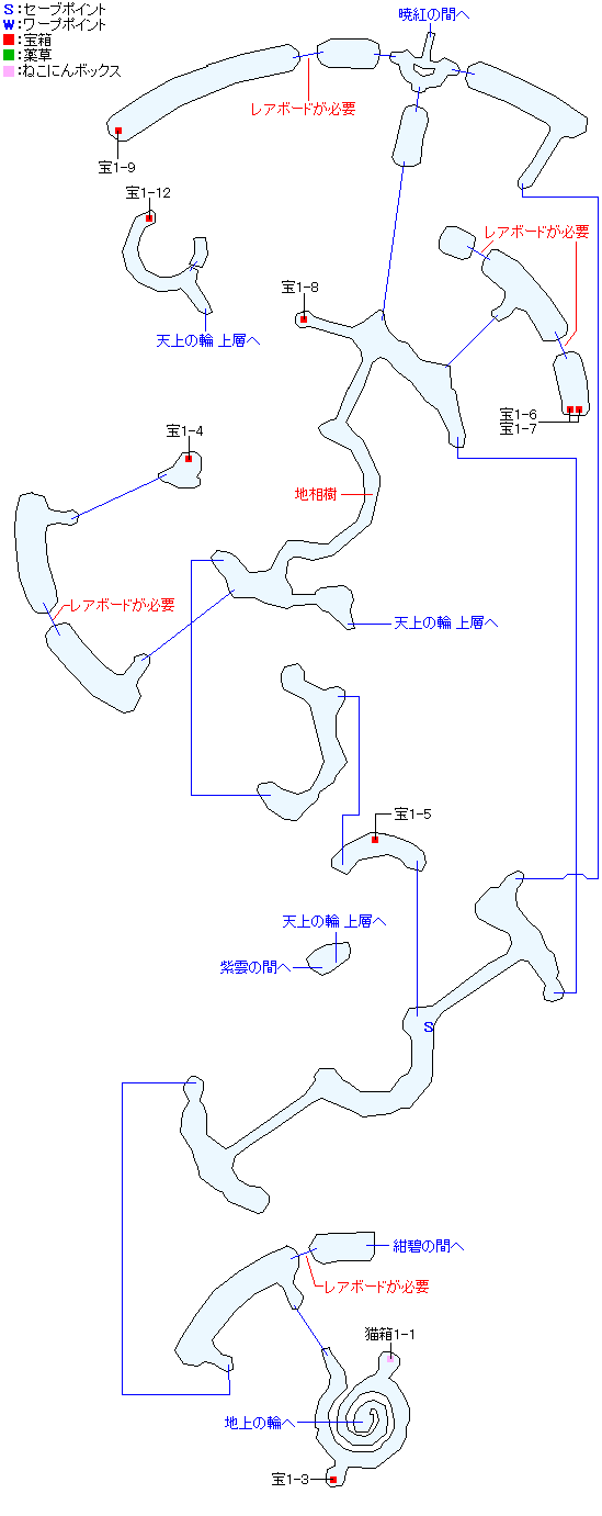 八頭竜カノヌシ(天上の輪 下層)マップ