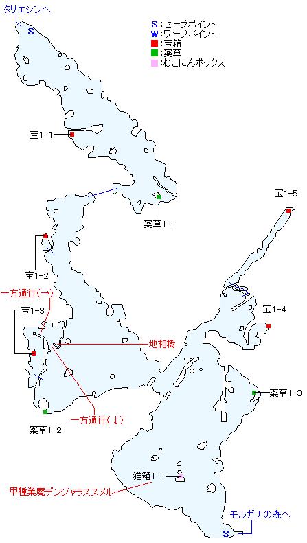 プルナハ湖畔崖道マップ
