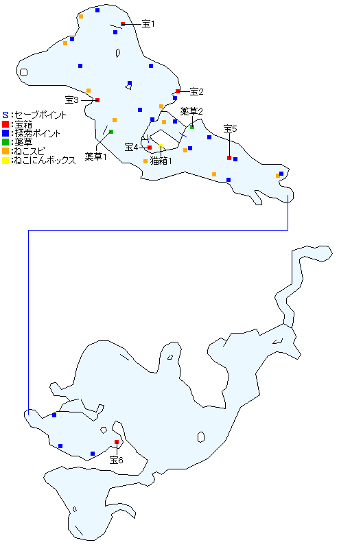 体験版・マクリル浜マップ画像