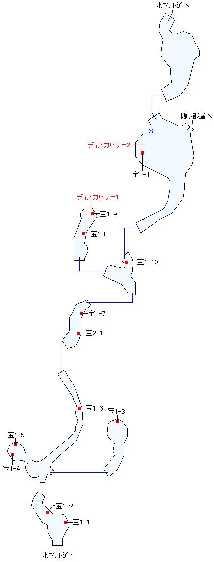 海辺の洞窟マップ