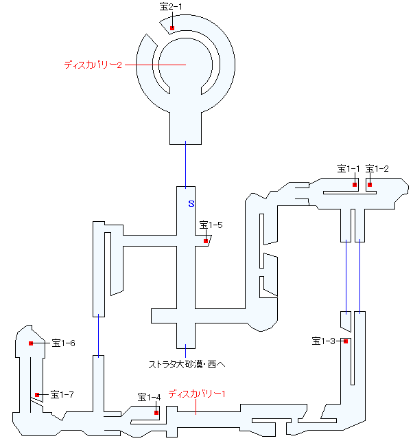 ストラタ砂漠遺跡(本編)マップ