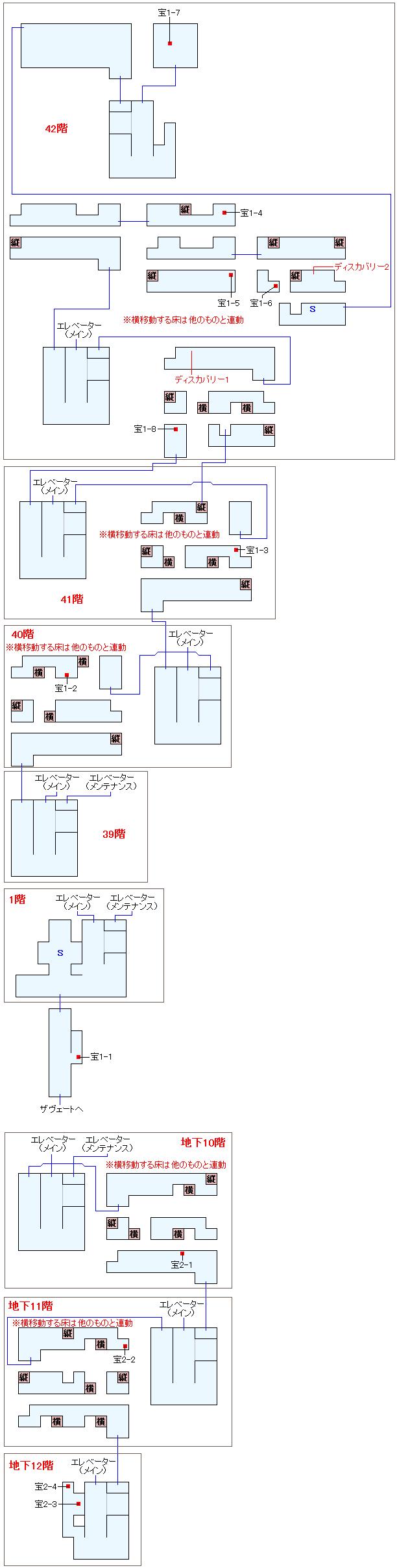 フェンデル政府塔マップ