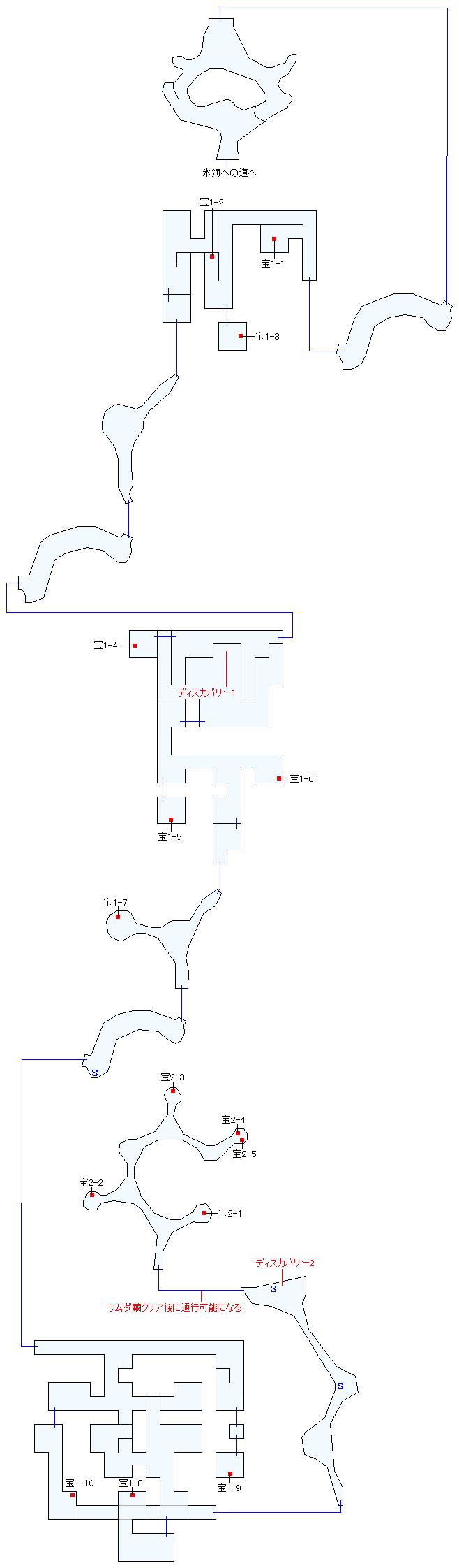 フェンデル氷山遺跡(本編)マップ