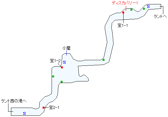 西ラント道(少年時代)マップ