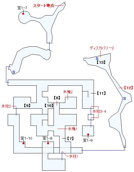 フェンデル氷山遺跡マップ画像(3)
