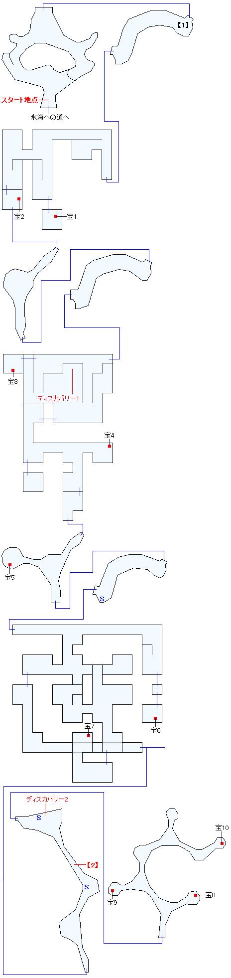 フェンデル氷山遺跡マップ画像