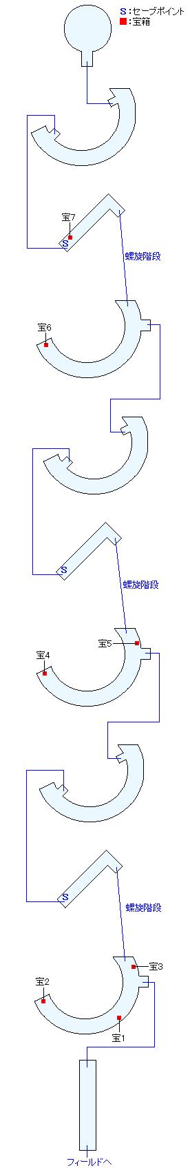 黎明の塔マップ