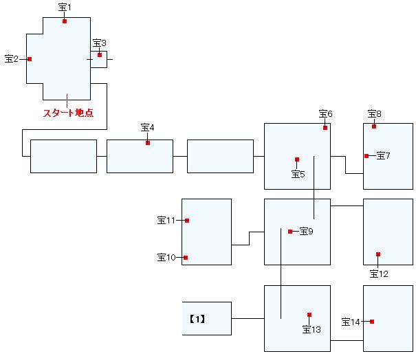 幽霊船アーセルム号マップ画像(1)