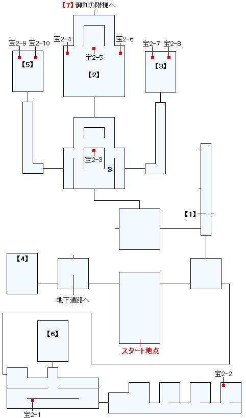 ザーフィアス城マップ画像(1)