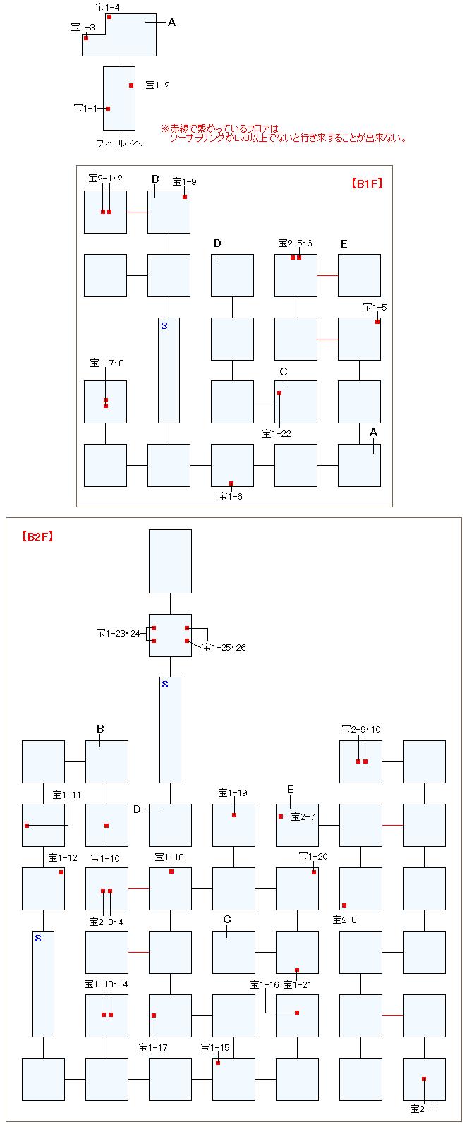 忘れられた神殿バクティオンマップ