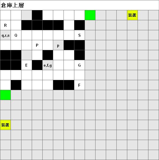 倉庫整理マップ・ノードポリカ(倉庫上層)