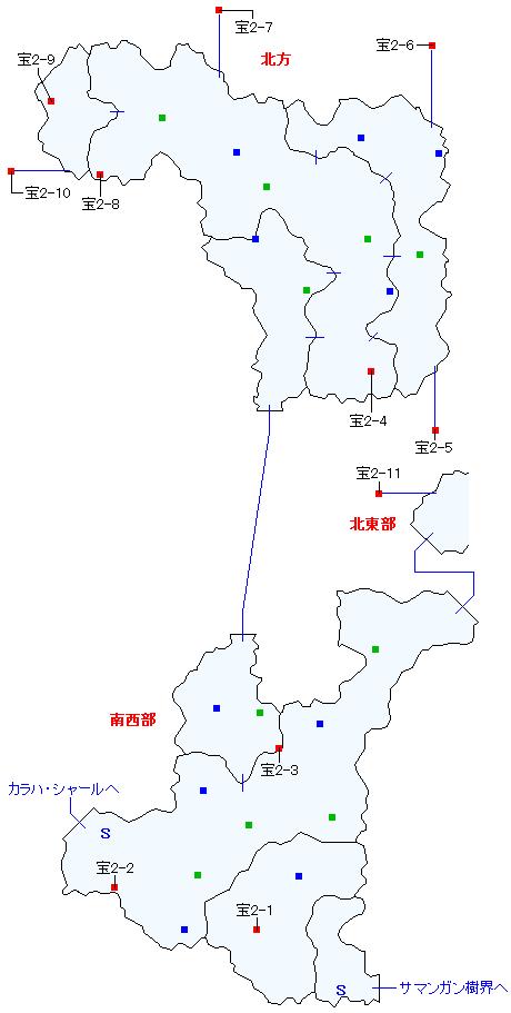 サマンガン街道マップ画像