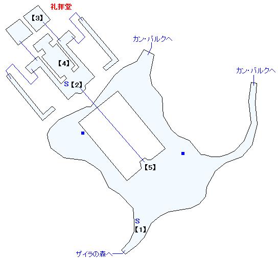ザイラの森の教会マップ画像