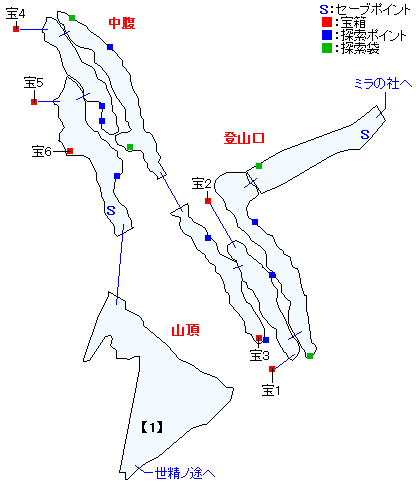 ニ・アケリア霊山(精霊界)マップ画像