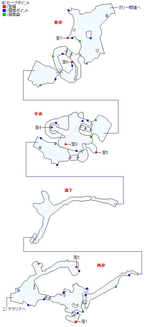 キジル海瀑(精霊界)マップ画像