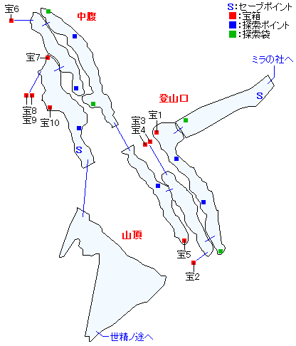 ニ・アケリア霊山マップ