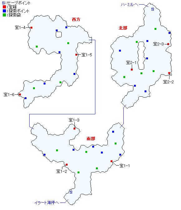 マップ画像・イラート間道(人間界)