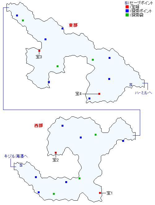マップ画像・ガリー間道(精霊界)