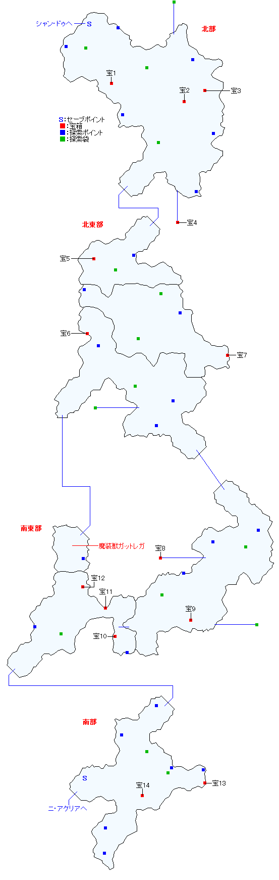 マップ画像・ソグド湿道(人間界)
