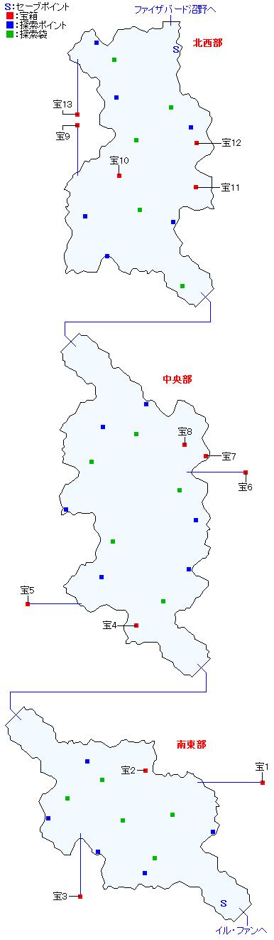 アルカンド湿原マップ
