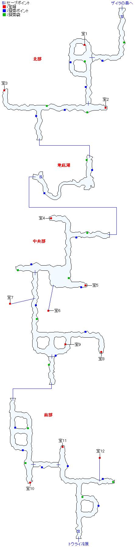 マップ画像・ククル凍窟(ミラ編)