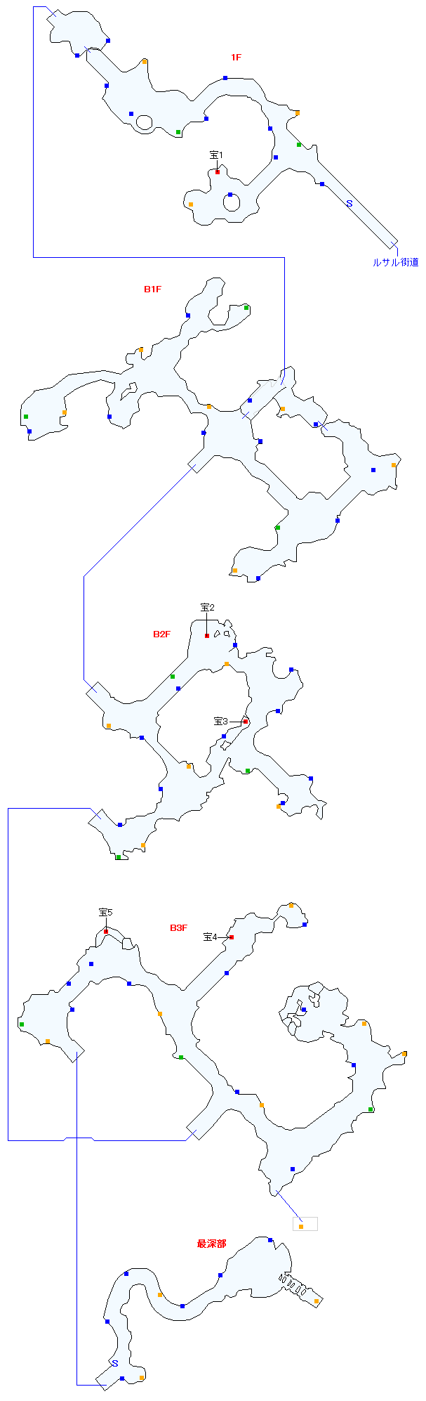 タタール冥穴(分史世界)マップ画像