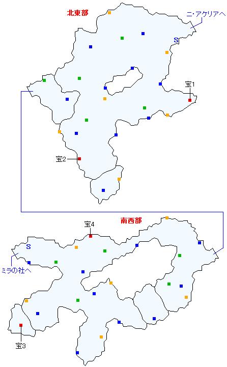 ニ・アケリア参道(分史世界)マップ画像
