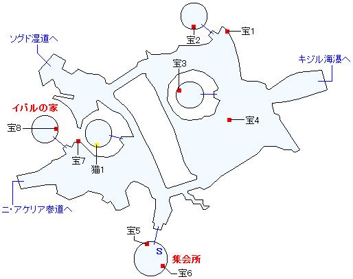 ニ・アケリア(正史世界)マップ画像