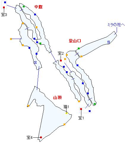 ニ・アケリア霊山(正史世界)マップ画像