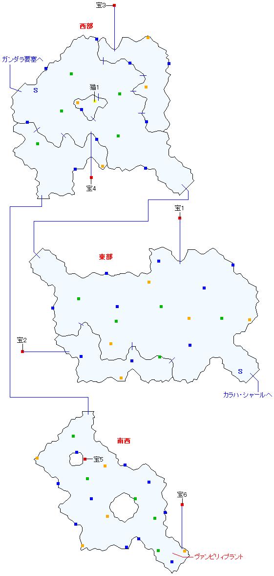 タラス街道(正史世界)マップ画像