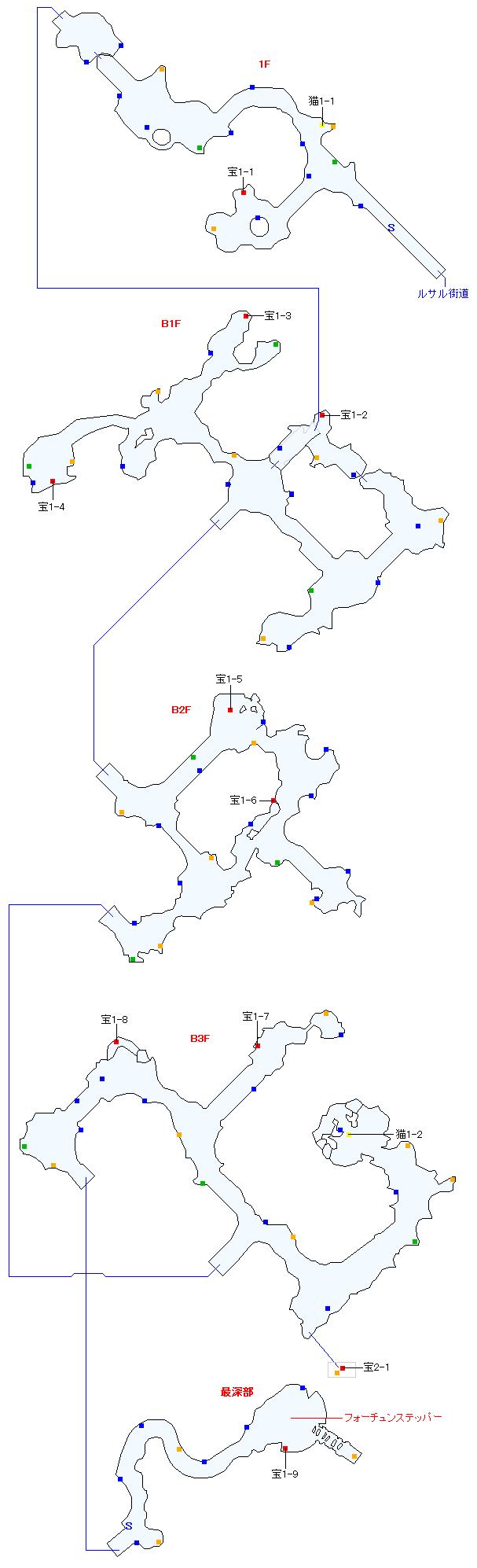 タタール冥穴(正史世界)マップ画像