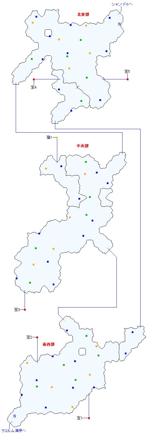 ラコルム街道(正史世界)マップ画像