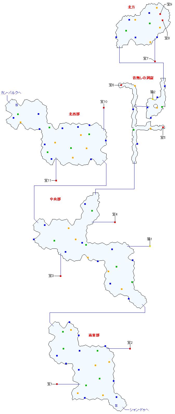 モン高原(正史世界)マップ画像