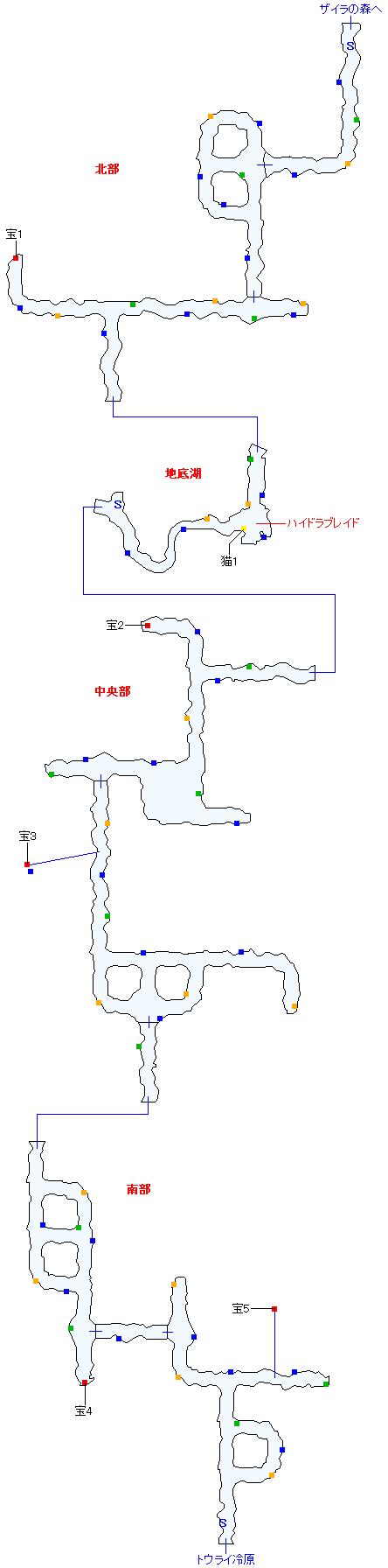 ククル凍窟(正史世界)マップ画像