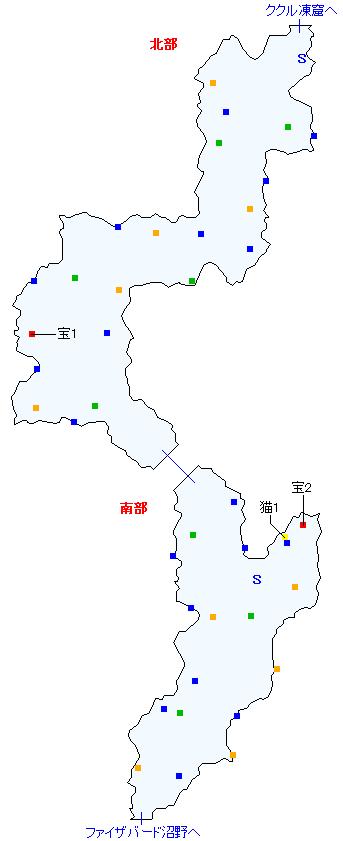 トウライ冷原(正史世界)マップ画像