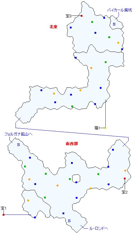 ボルテア森道(正史世界)マップ画像