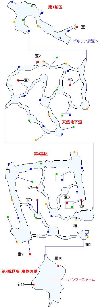 フェルガナ鉱山(正史世界)マップ画像