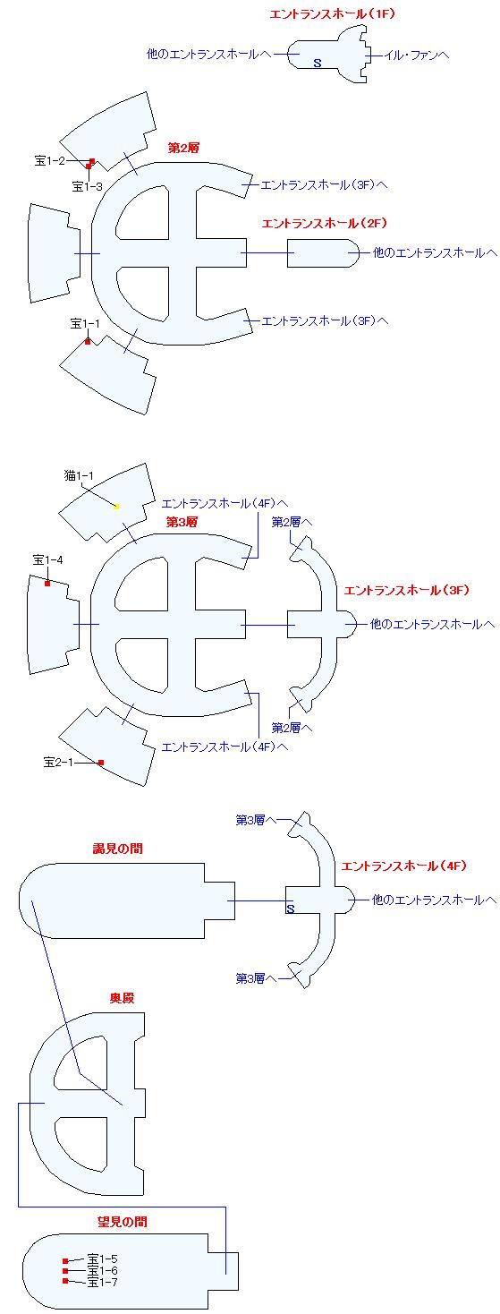 オルダ宮(正史世界)マップ画像