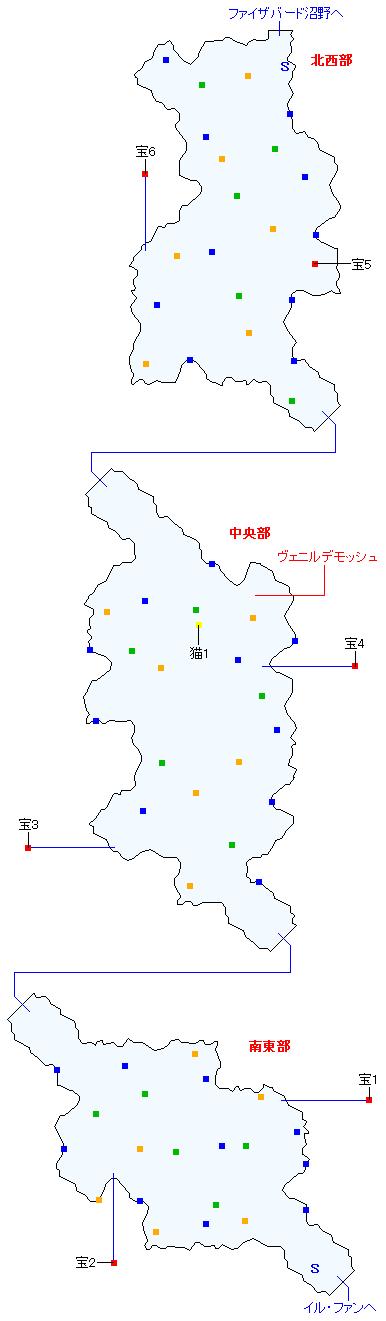 アルカンド湿原(正史世界)マップ画像