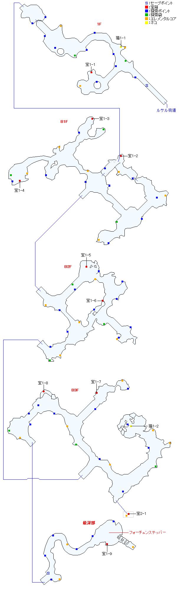 マップ画像・タタール冥穴(正史世界)
