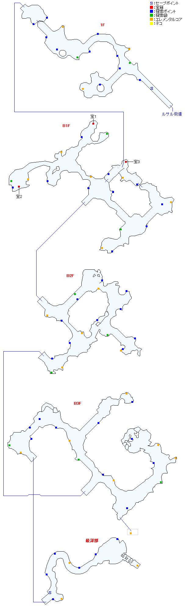 マップ画像・タタール冥穴(分史世界・チャプター7)