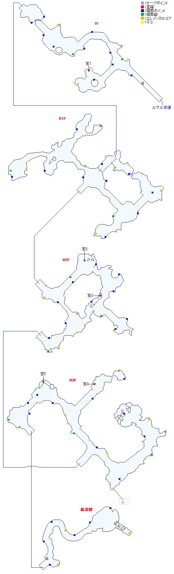 マップ画像・タタール冥穴(分史世界・ジュードエピソード2)