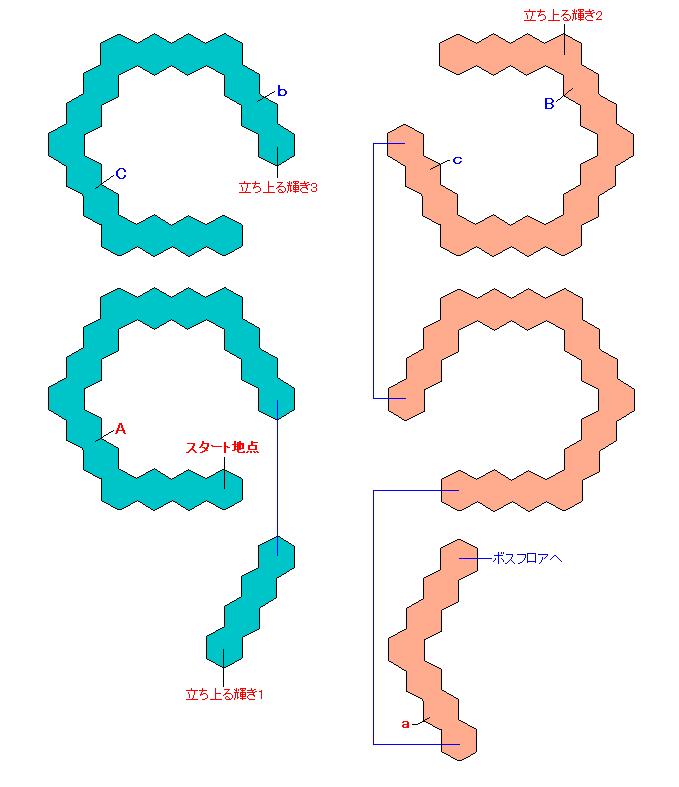 マップ画像・無明の霊異(螺旋エリア1・ミラ)