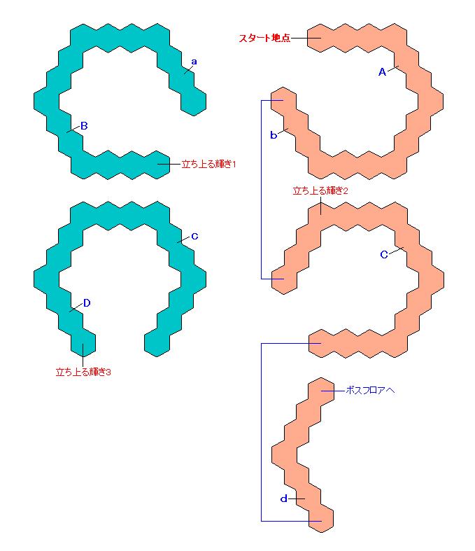 マップ画像・無明の霊異(螺旋エリア1・エリーゼ)